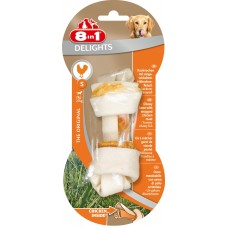 8in1 DELIGHTS S bone with chicken for small and medium dogs 11 cm