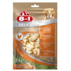 8in1 DELIGHTS XS chicken bone for small dogs 7.5 cm 21 pcs (pack)