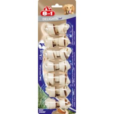 8in1 DELIGHTS Beef XS bones with beef for small dogs 7.5 cm 7 pcs