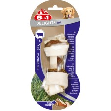 8in1 DELIGHTS Beef S bone with beef for small and medium dogs 11 cm
