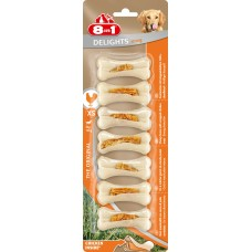 8in1 DELIGHTS Strong XS bones heavy-duty with chicken meat for small dogs 7.5 cm 7 pcs