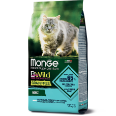 Monge Cat BWild GRAIN FREE grain-free salmon and pea feed for adult cats 1.5 kg