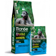Monge Dog BWild GRAIN FREE grain-free dog food of all breeds anchovies with potatoes and peas 2.5 kg