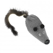 """HIT! Toy """"Mouse M with a mink tail"""" 6 cm GoSi label cardboard with a Euro slot (tail from a natural mink)"""
