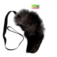 NEW! Toy for dogs Natural fur tail with a handle Size: Handle 100cm + tail